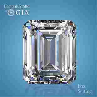 3.12 ct, Color F/VVS1, Emerald cut GIA Graded Diamond