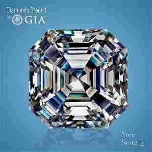 5.01 ct, Color H/VS1, Sq. Emerald cut GIA Graded