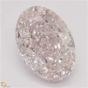1.52 ct, Lt. Pink/SI2, Oval cut GIA Graded Diamond