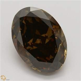 3.52 ct, Brown/SI1, Oval cut GIA Graded Diamond