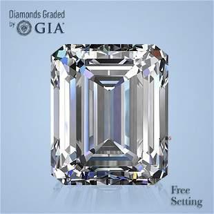 5.01 ct, Color F/VS1, Emerald cut GIA Graded Diamond