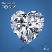6.01 ct, Color D/FL, TYPE IIa Heart cut GIA Graded