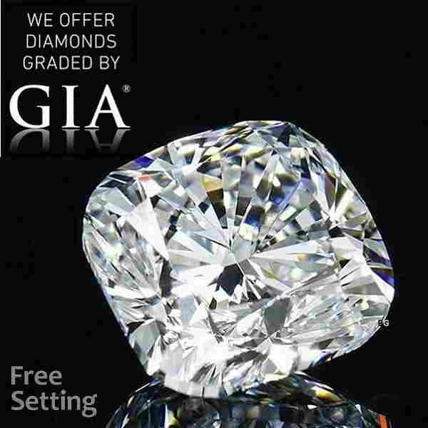2.54 ct, Color F/VVS2, Cushion cut GIA Graded Diamond