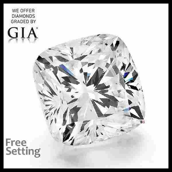 1.70 ct, Color F/VVS2, Cushion cut GIA Graded Diamond
