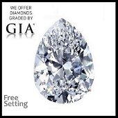3.01 ct, Color F/VVS2, Pear cut GIA Graded Diamond