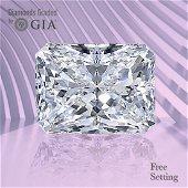 4.04 ct, Color D/VS2, Radiant cut GIA Graded Diamond