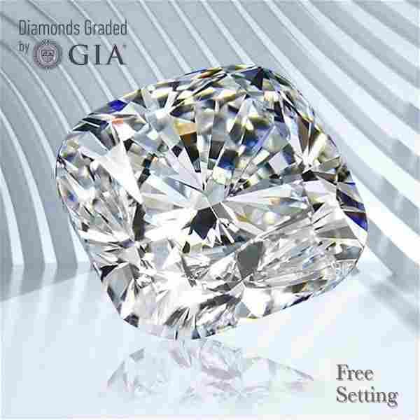 3.01 ct, Color F/VVS2, Cushion cut GIA Graded Diamond