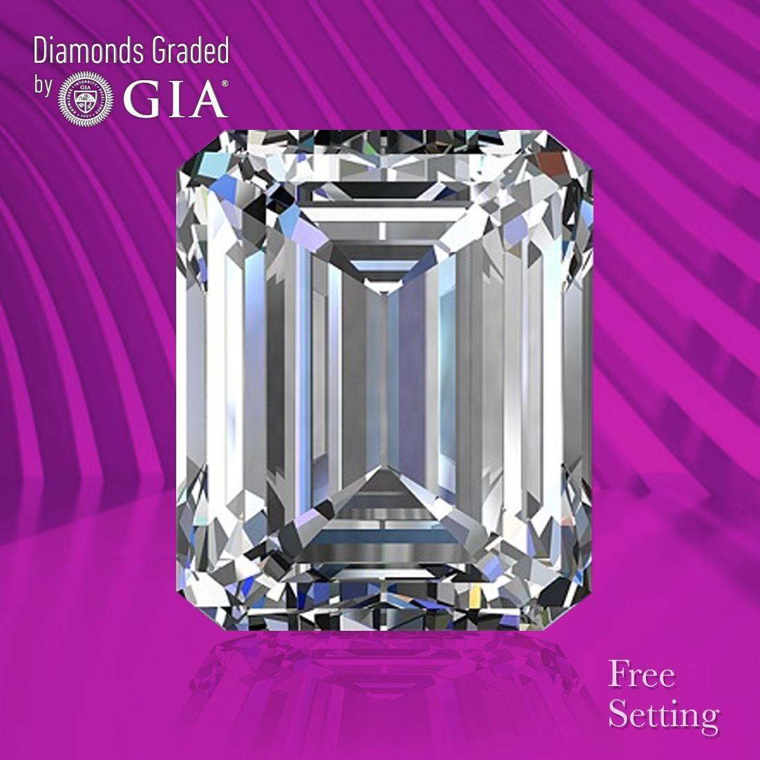 2.01 ct, Color F/VVS2, Emerald cut GIA Graded Diamond
