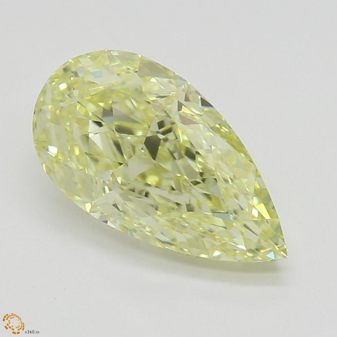 1.51 ct, Yellow/VVS1, Pear cut GIA Graded Diamond