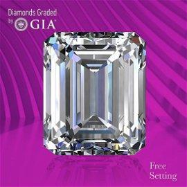 10.16 ct, Color D/FL, TYPE IIa Emerald cut GIA Graded