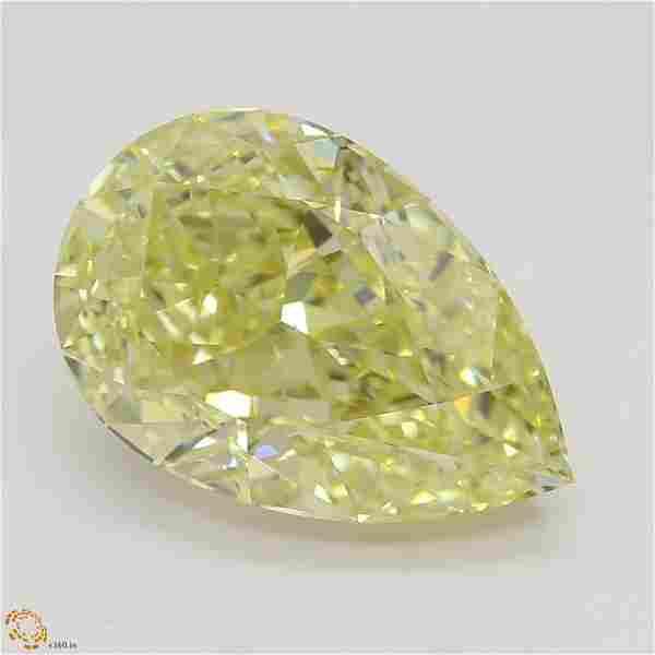3.08 ct, Yellow/VVS1, Pear cut GIA Graded Diamond