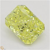 3.01 ct, Intense Yellow/IF, Radiant cut GIA Graded