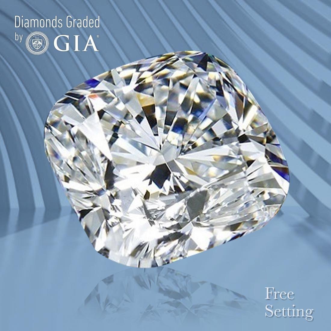 1.51 ct, Color F/VVS2, Cushion cut GIA Graded Diamond