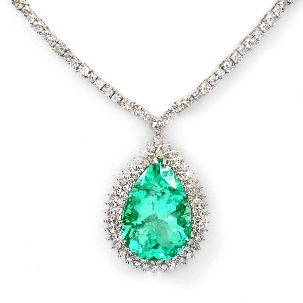 2: 18 kt necklace with 18.68 carat in dia, 36.48 carat