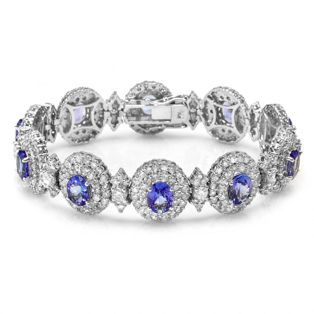 6: 14 kt bracelet with 13.76 carat in dia, 11.06 carat