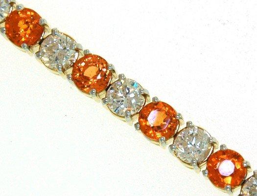 7: 14 kt bracelet with 7.87 carat in dia, 13.16 carat i