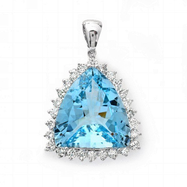 10: 18 kt pendant with 3.60 carat in dia, 48.50 carat i