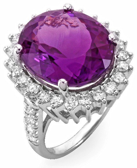 15: 14 kt ring with 1.42 carat in dia, 14.25 carat in A