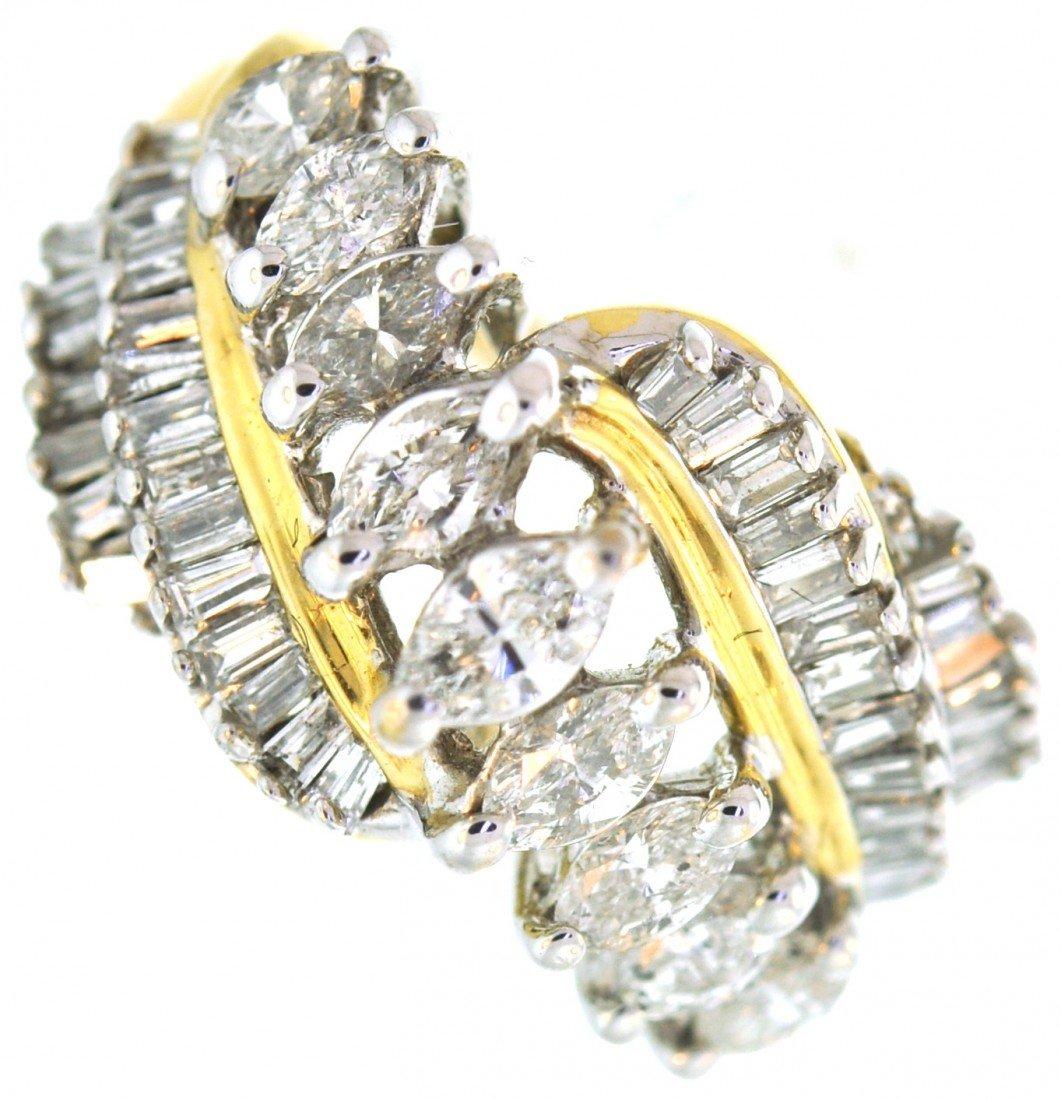 17: 14 karat gold ring with 2.00 carat in diamonds