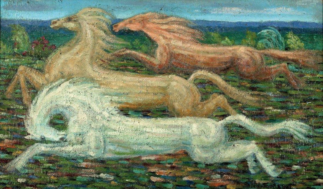 12: Serge Ponomarew 1911 Minsk - 1985 Paris - Drei lauf
