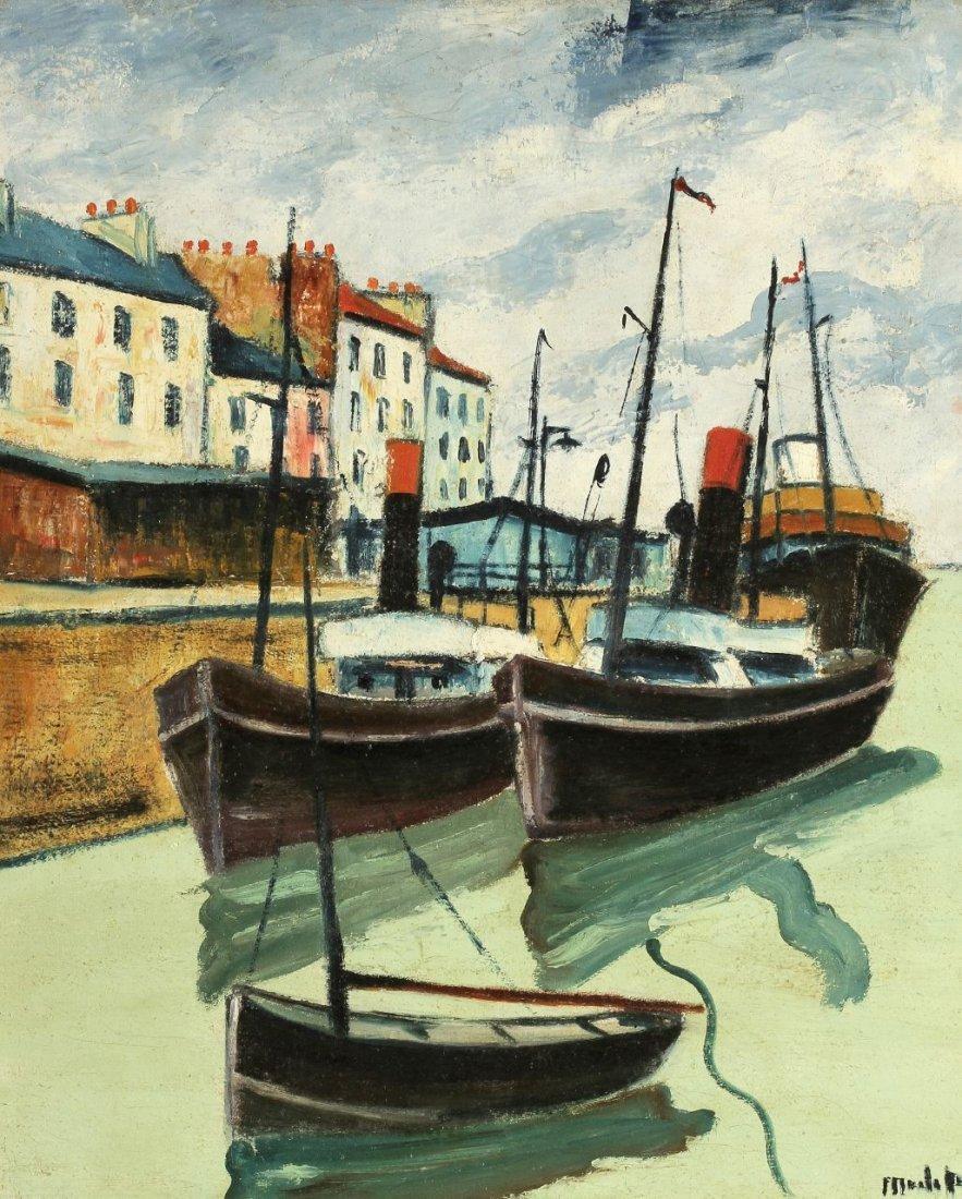 15: Elisée Maclet 1881 - 1962 - 'Port de Dieppe' - Öl/L
