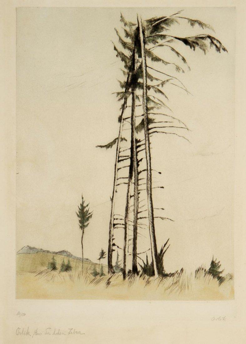 21: Emil Orlik 1870 Prag - 1932 Berlin - In den Karpate