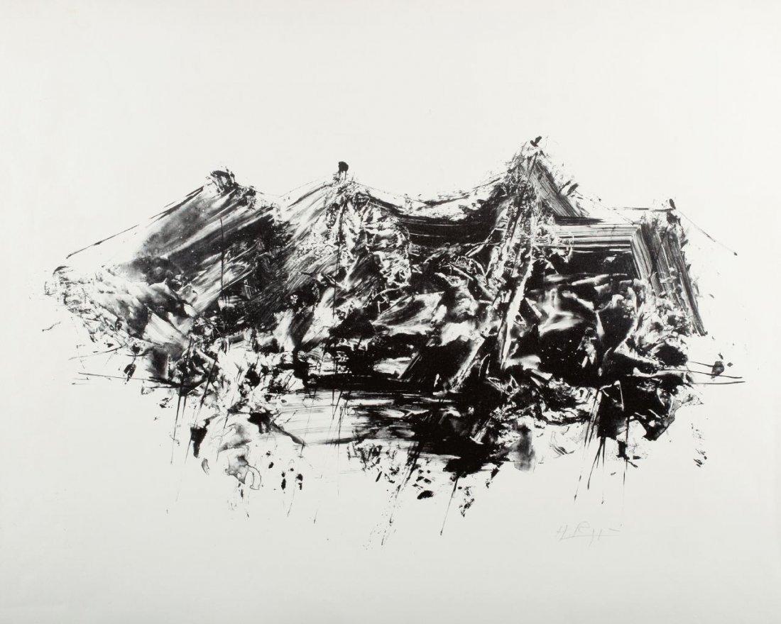 83: Helmut Rogge 1924 Harenberg - Abstrahierte Landscha