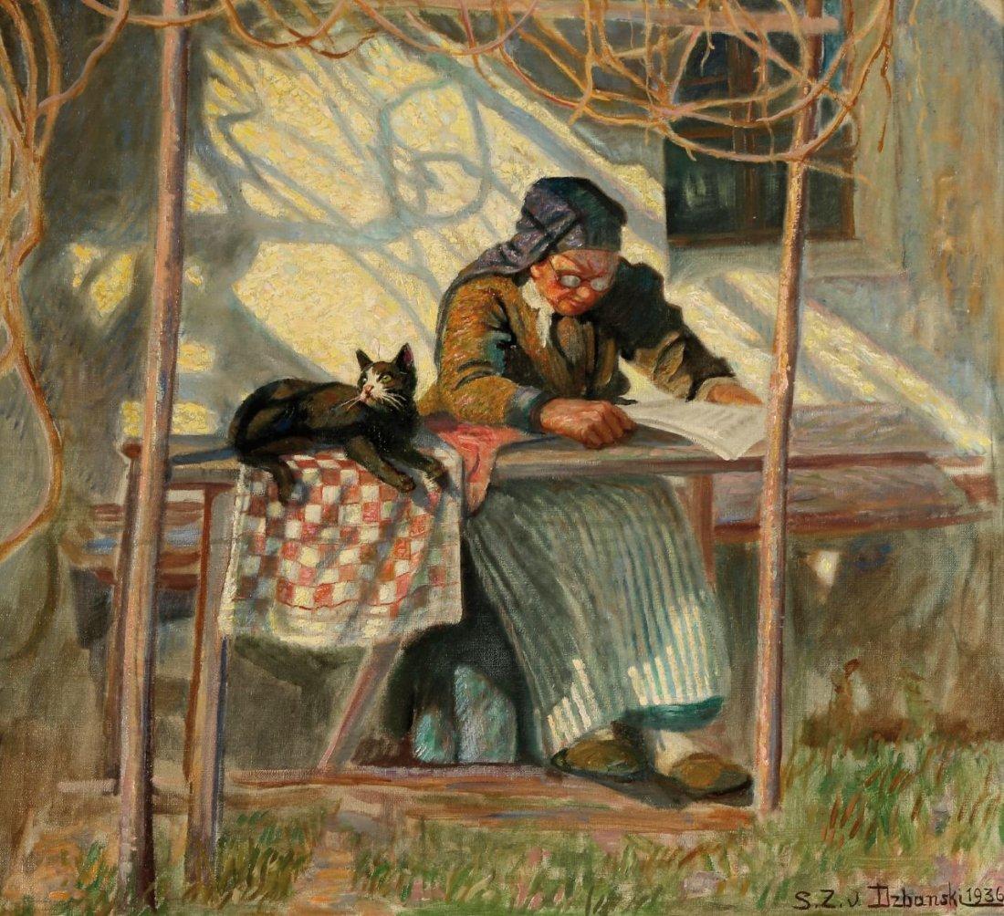 12: Sixtus von Dzabanski 1874 Danilcze - 1942 - Lesende