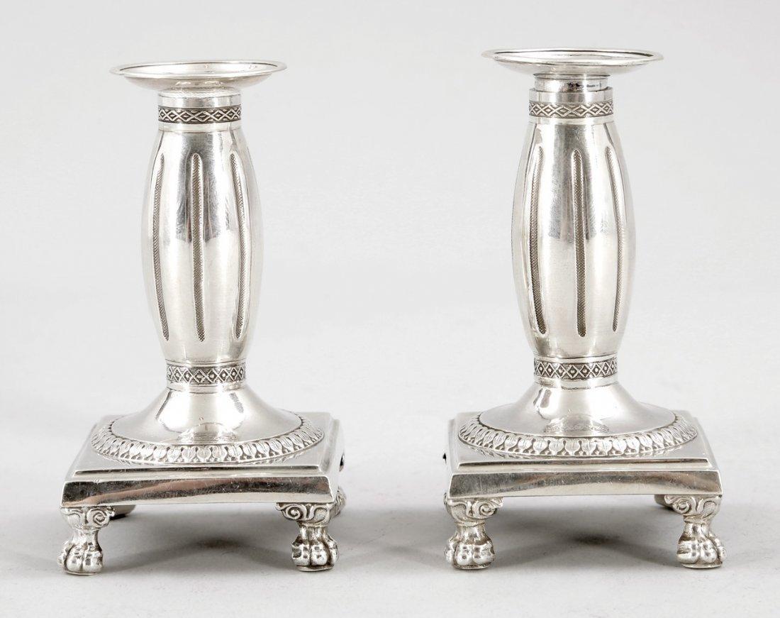 7: Paar Reise-Kerzenleuchter Frankreich, um 1820. 950er