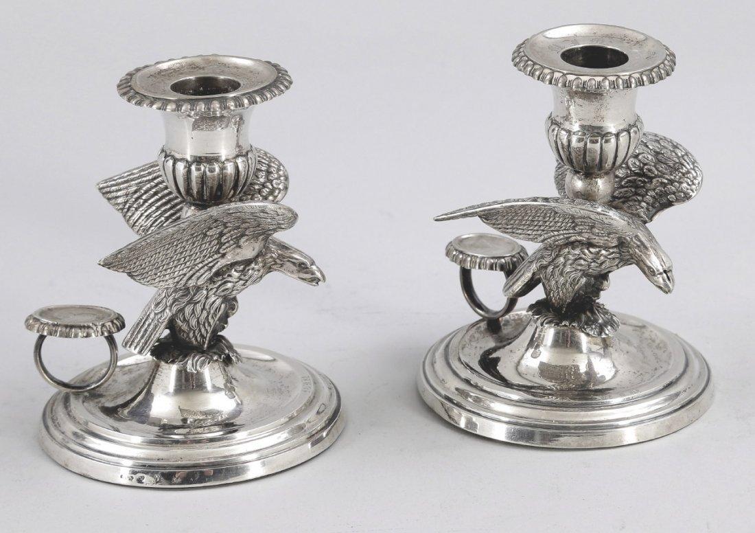 17: Paar Handleuchter mit Adlerfiguren Schweden, wohl u