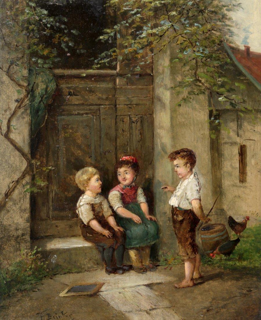 1113: Fritz Beinke 1842 Düsseldorf - 1907 - Drei Kinder