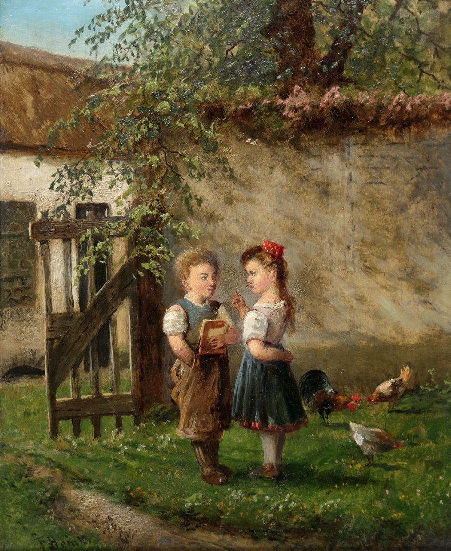 1114: Fritz Beinke 1842 Düsseldorf - 1907 - Mädchen tad