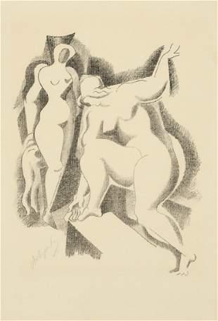 Alexander Archipenko 1887 Kiew - 1964 New York - 'Zwei