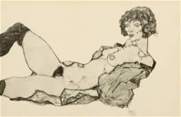 Egon Schiele 1890 Tulln - 1918 Wien nach - Liegender we