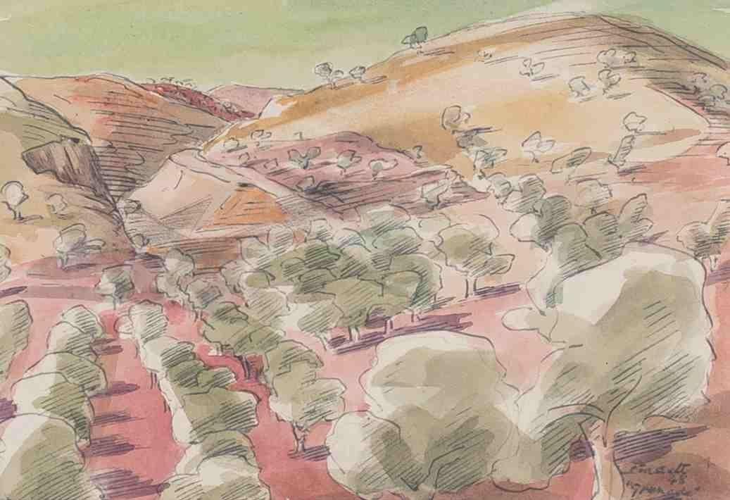 Bassett Wilson 1888 - 1972 - 'Granada' - Aqua...