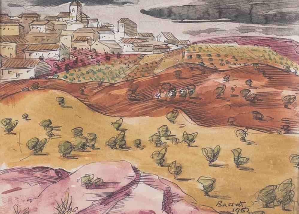 Bassett Wilson 1888 - 1972 - Landschaft mit S...