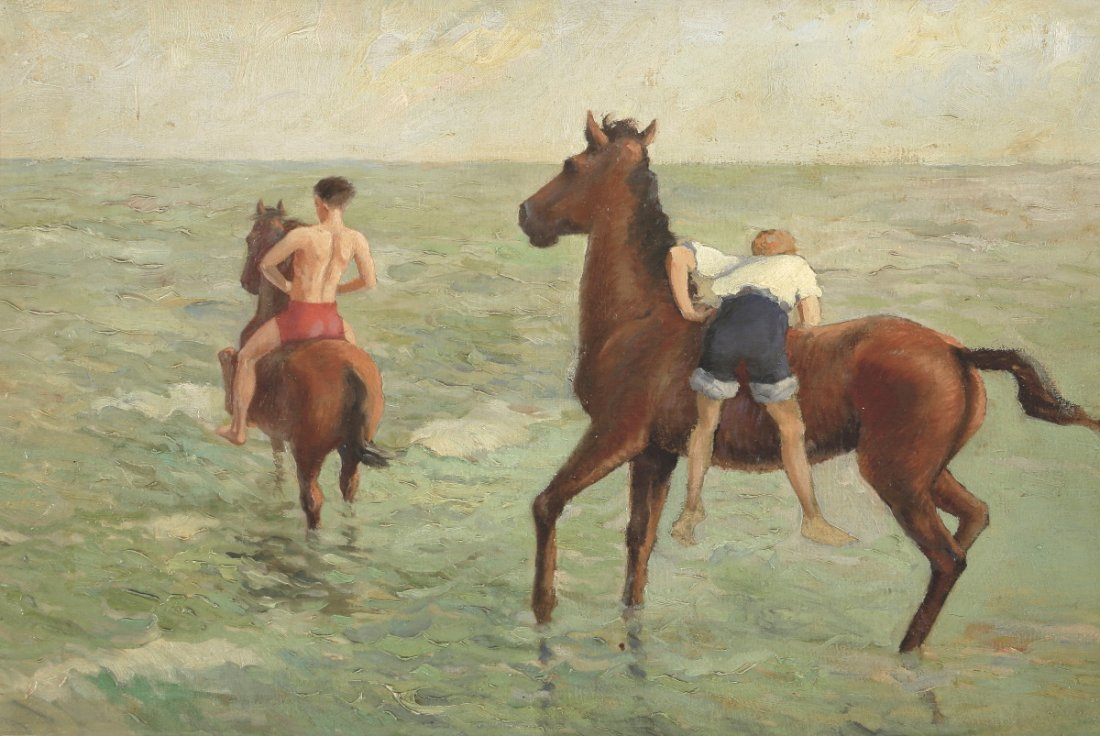 Künstler des frühen 20. Jahrhunderts - Reiten...