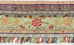 Chinese Forbidden Stitch Silk Banner 25''x88''.