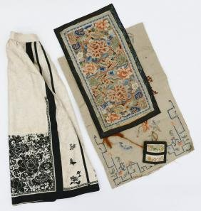 4pc Chinese Silk Embroidery. Includes a wedding skirt