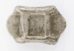 Old Chinese Silver Ingot 2.25''x1.5''. A solid sterling