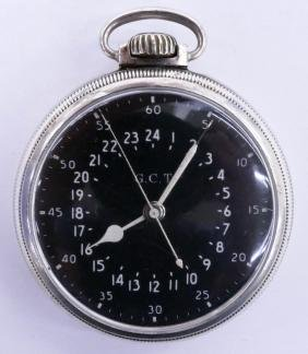 Hamilton 4992B US Navy Military Pocket Watch 2''. Black