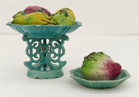 Group Chinese Porcelain Fruit & Compote 6''x7''.