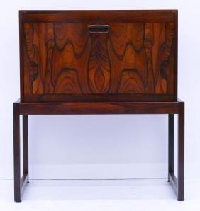 Modern Norway Rosewood Bar Cabinet 29''x25.5''x14''.