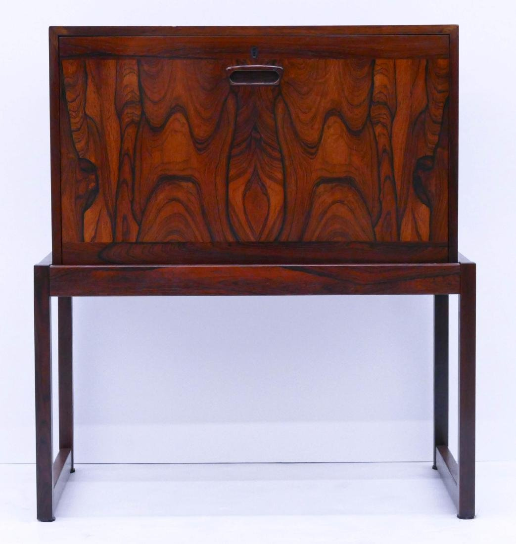 Modern Norway Rosewood Bar Cabinet 29''x25.5''x14''.