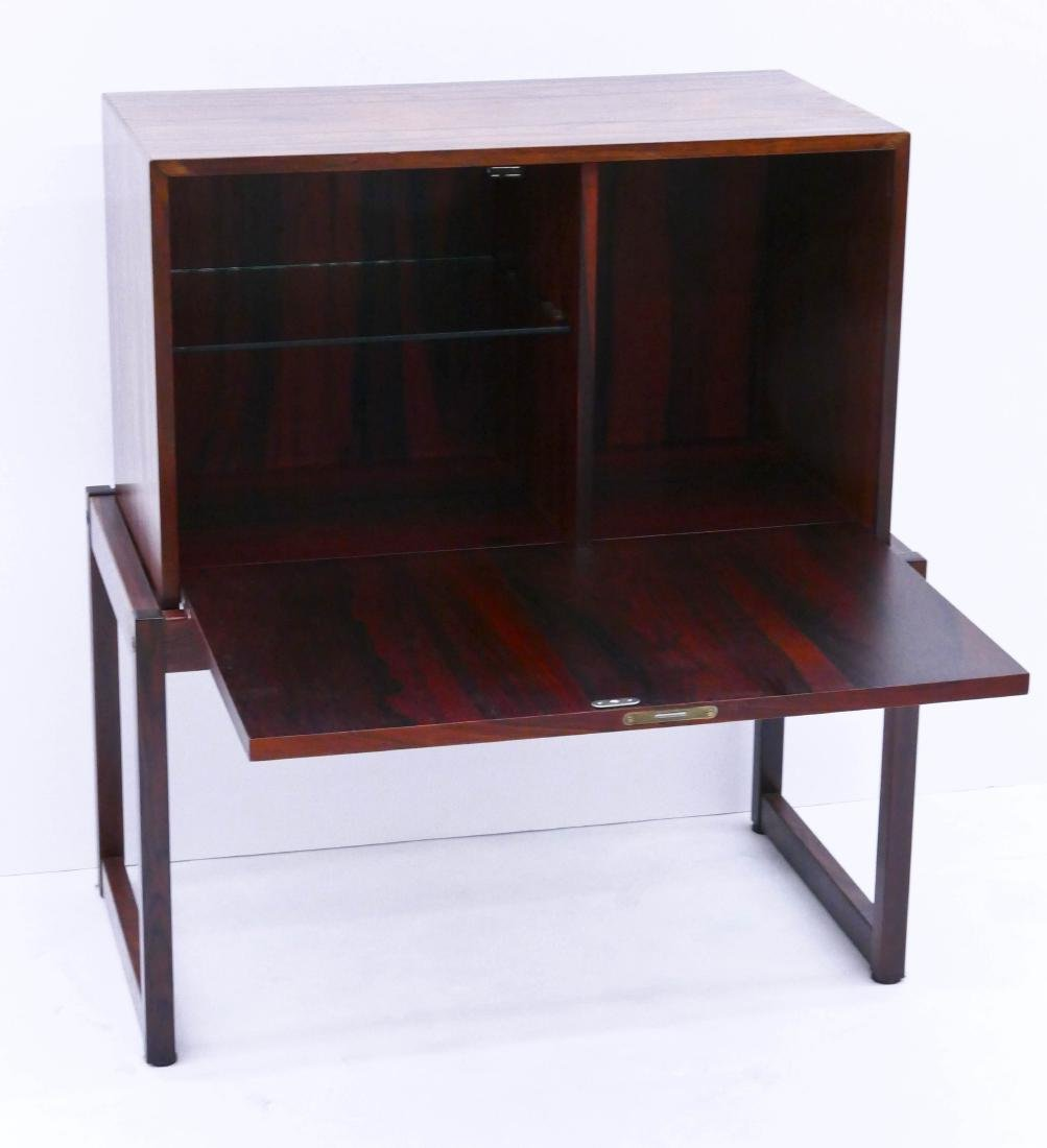 Modern Norway Rosewood Bar Cabinet 29''x25.5''x14''. - 2