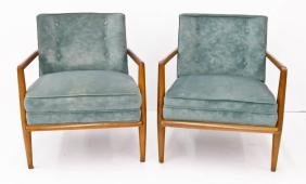 Pair T.H. Robsjohn-Gibbings for Widdicomb Lounge Chairs