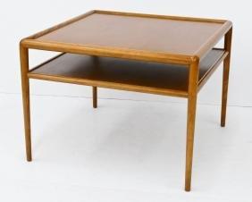 T.H. Robsjohn-Gibbings for Widdicomb Square Lamp Table