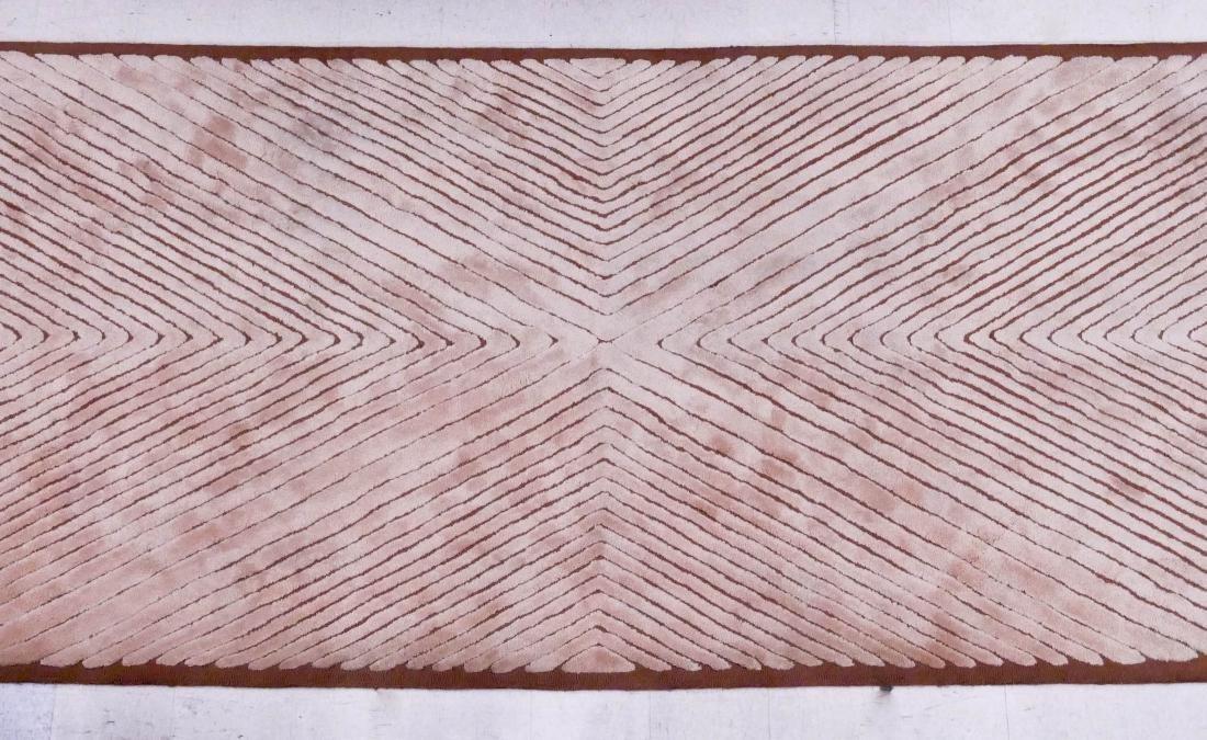 Edward Fields Modern Designer Wool Rug 6'x21'. Tan