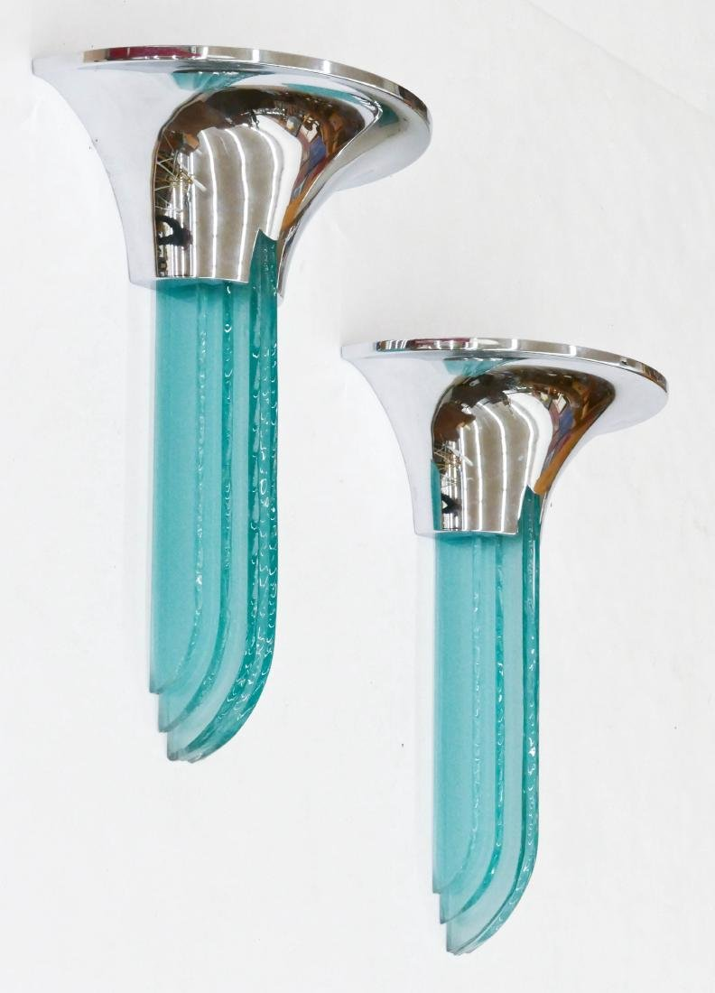 Pair Karl Springer ''Purcell'' Wall Sconces