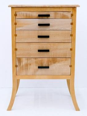 Northwest Wood Designs Maple Jewelry or Lingerie Chest